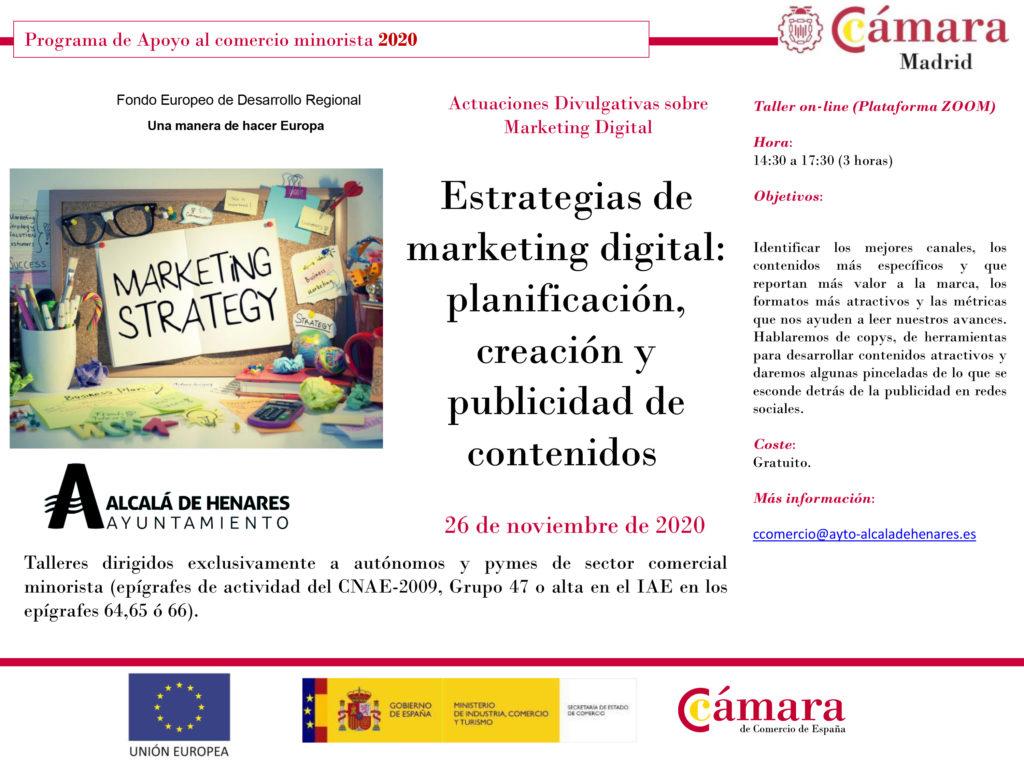 El Ayuntamiento De Alcalá De Henares Lanza Un Nuevo Taller Online Gratuito Sobre Estrategias De Marketing Digital Acohen